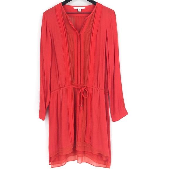 Diane Von Furstenberg Dresses & Skirts - DIANE VON FURSTENBERG New Slice Drawstring Dress